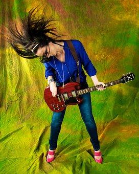 Music, Guitar, Musician, Adult, Guitarist, Girl