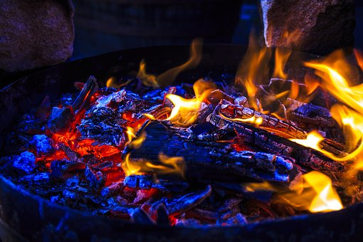 Grill Party, Fire, Hot, Open Fire, Flare-up, Heat
