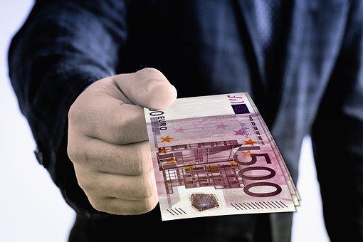 Euro, Gift, Hand, Keep, Give, Present, Presentation