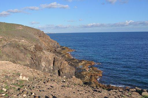 Costa, Sea, Body Of Water, Beach, Landscape, Lanzarote