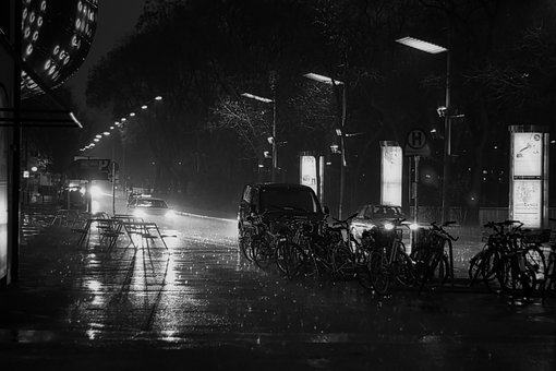 Black And White Photography, Rain, Light
