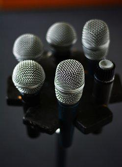 Microphone, Micro, Microphone Stand, Karaoke, Voice