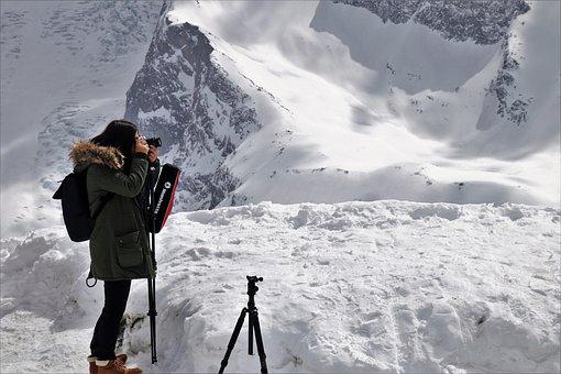 Girl, Photography, Snow, Winter, Mountain, Ice, She