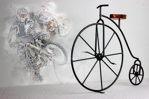 Bike, Bicycle, Old, Sport, A Motorcycle, Old Bike