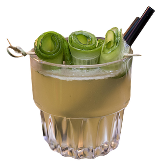 Cocktail, Gin, Lime, Cucumber, Apple, Rock Garden