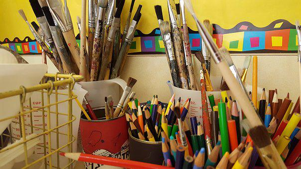 Craft, Creativity, School, Painting, Wood