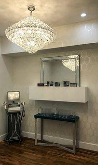 Spa, Skin Care, Chandelier, Contemporary, Indoors