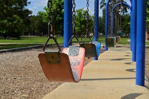 Nature, Kids, Swings, Children, Summer, Outdoors, Park