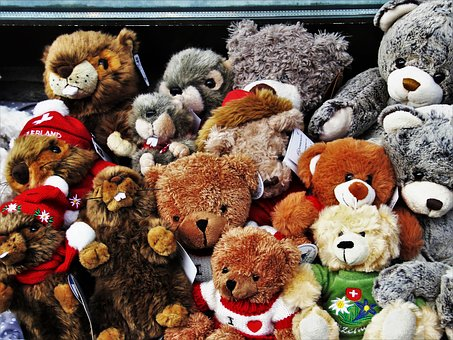 Bears, Plush, Toy, Animals, Charming, Toys, Swiss