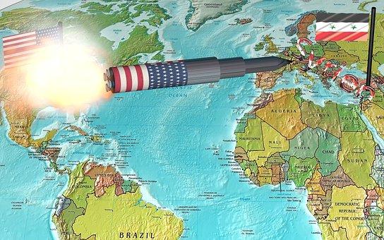 Usa, Syria, Long-range Missile, Attack, War, Bombing