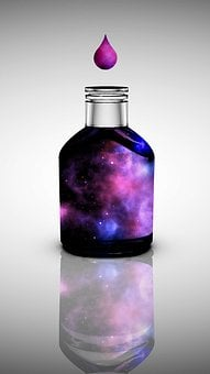 Bottle, Glass Container, Liquid, Color, Water, Curious