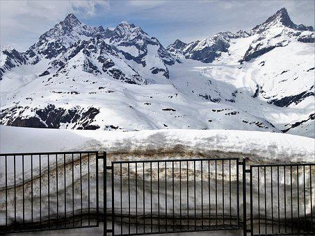 Tops, The Alps, Zermatt, Railway Station, Peron