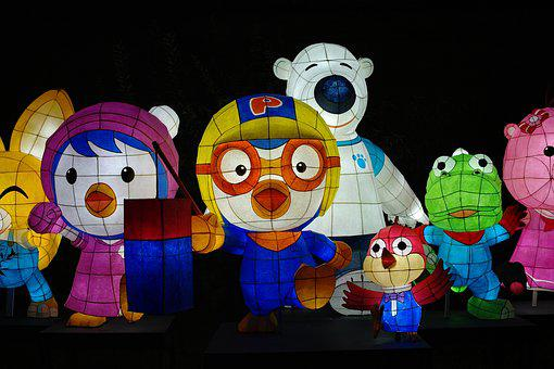 Figure, Children, Toy, Art, Color, Characters, Lantern