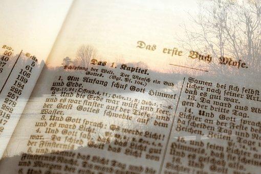 Bible, Faith, Church, Religion, Double Exposure, Book