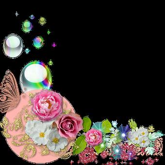 Cluster, Scrapbook, Flowers, Spring, Pink, Flower