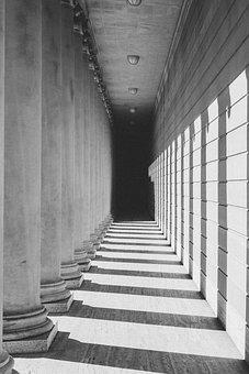 Architecture, Step, Darkness, Column, Exterior