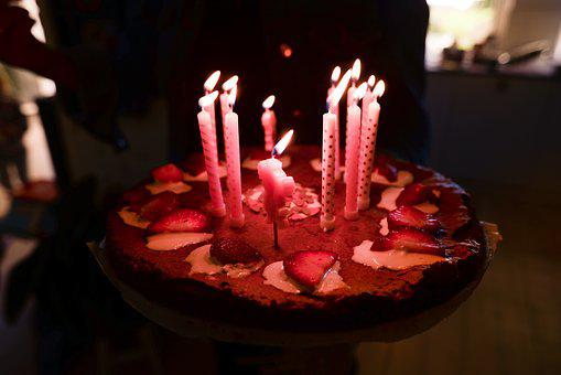 Birthday Cake, Food, Candle, Sweet, Fruit, People