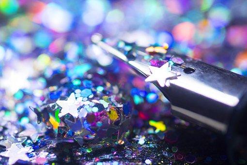 Filler, Fountain Pen, Blur, Bokeh, Leave, Glitter
