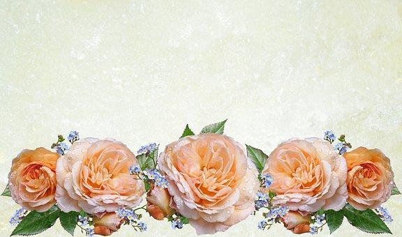 Greeting Card, Rose, Flower, Wedding, Bouquet, Love