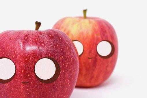 Mace, Cute, Fruit, Health, Kawaii, Illustration