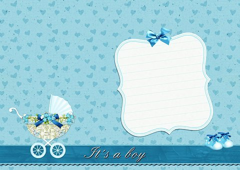 Background Image, Baby Carriage, Baby Shoes, It's A Boy