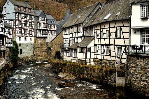 Monschau, Half-timbered Houses, Timber-framed