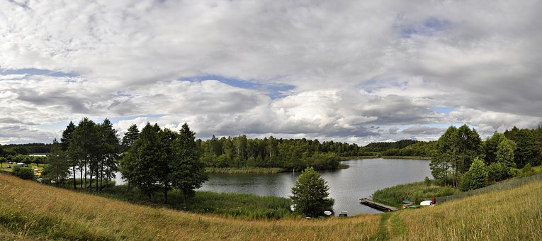 Panoramic, Nature, Monolithic Part Of The Waters