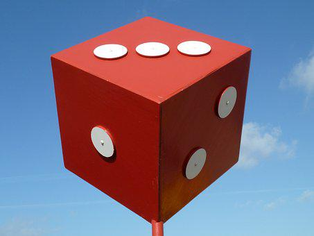 Cube, Roll The Dice, Craps, Red White
