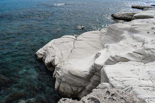 Sea, Seashore, Nature, Landscape, Rock, White