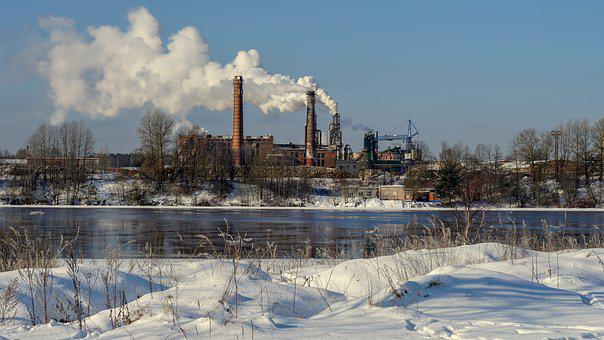 Winter, Snow, Water, Nature, Pollution, Industry