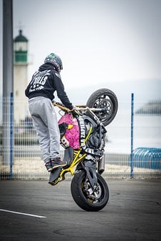 Bike, Hurry, Wheel, Street, Biker, Man, Motion, Race