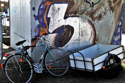 Bike, Transport, Graffiti, Street, The Vehicle, Old