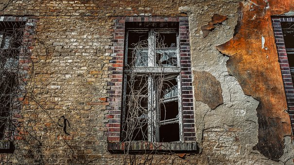 Window, Old, Wall, Brick, Home, Leave, Facade, Break Up