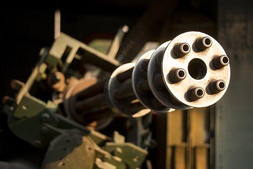 Machine Gun, War, Army, Weapon, Military Technique