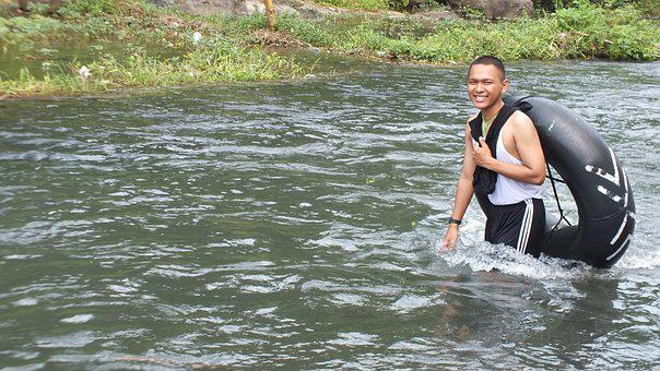 Water, River, Wet, Nature, Outdoors, Sumber Maron