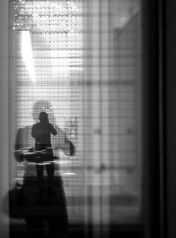 People, Adult, Man, Monochrome, Window, Abstract