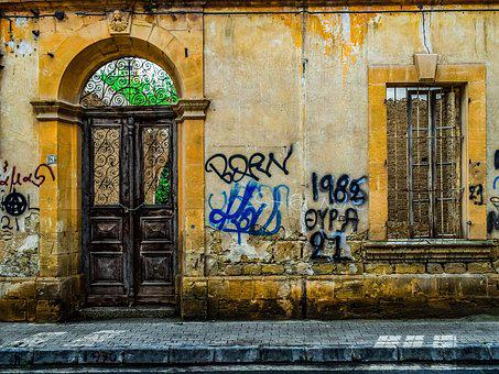 Door, Window, Wall, Architecture, Old, House, Gate