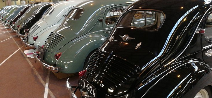 Automobile, Transport, Vehicle, Classical, Chrome, 4cv