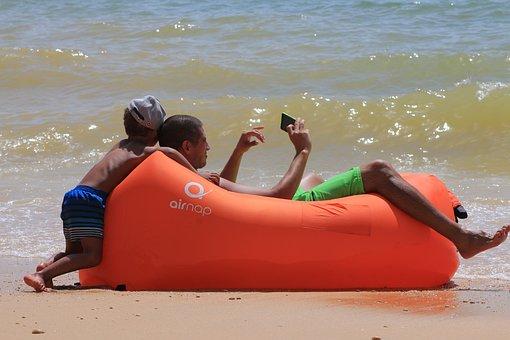 Mar, Beach, Trip, Costa, Selfie, Family, Holidays