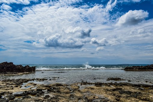 Sea, Water, Seashore, Beach, Travel, Sky, Clouds