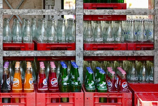 Coca-cola, Bottle, Glass, Returnable Bottle, Kiosk