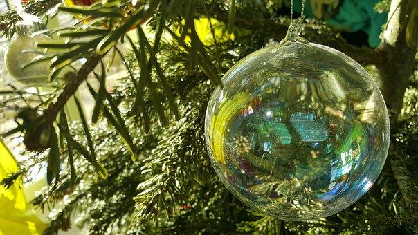 Christmas, Glass Ball, Jewellery, Ball, Shiny, Ornament