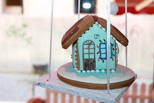Gingerbread, Cottage, Ornament, Drawing, Clearance