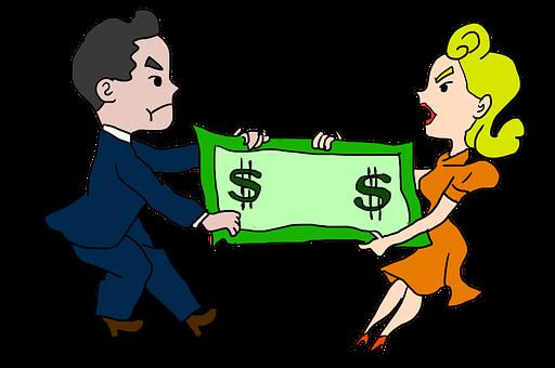 Divorce, Divorcement, Fight, Fighting, Couple, Money