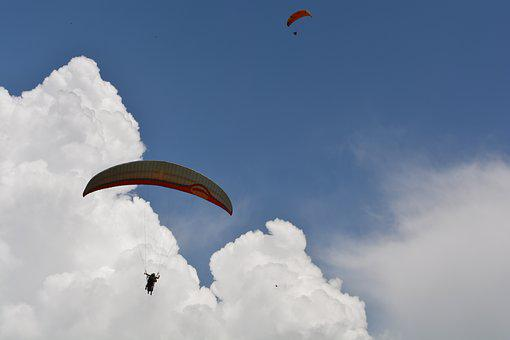 Sky, Air, Flying, Flight, Freedom, Outdoors, Parachute