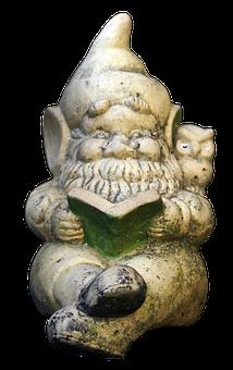 Dwarf, Garden Gnome, Read, Figure, Ceramic, Gnome