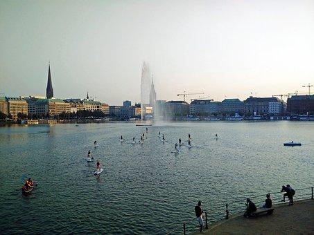 Hamburg, Alster, Internal Age, Alster Fountain