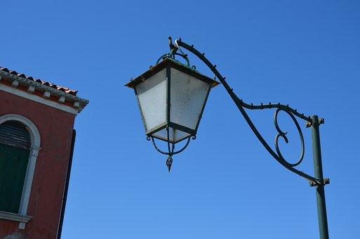 Lamp, Lantern, Sky, Architecture, Old, Lamppost, Iron