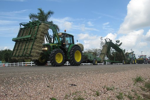 Machine, Tractor, Bale, John Deere, Baler, Tire, Farm