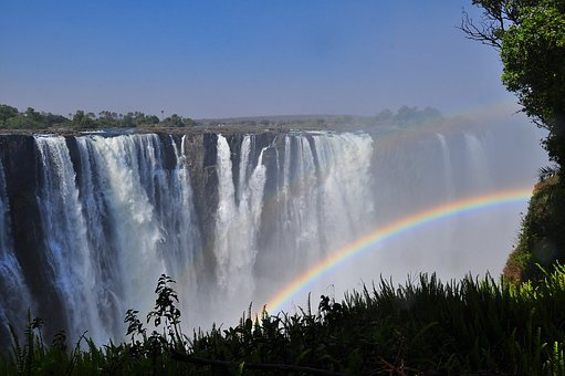 Rainbow, Waterfall, Water, Landscape, Nature, Outdoors